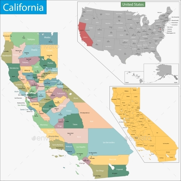 GraphicRiver California Map 9425464