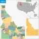Idaho Map - GraphicRiver Item for Sale