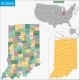 Indiana Map - GraphicRiver Item for Sale