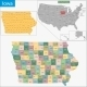 Iowa Map - GraphicRiver Item for Sale