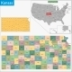 Kansas Map - GraphicRiver Item for Sale