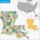 Louisiana Map - GraphicRiver Item for Sale