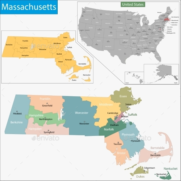 GraphicRiver Massachusetts Map 9425512