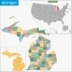 Michigan Map - GraphicRiver Item for Sale