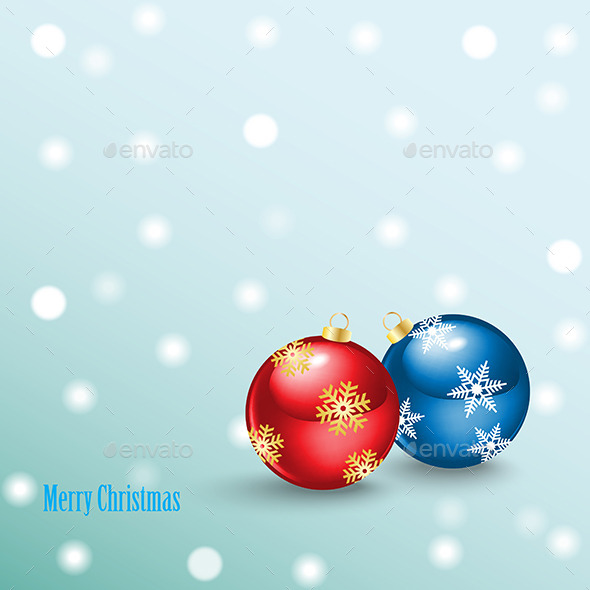 GraphicRiver Merry Christmas Background with Balls 9425538