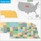 Nebraska Map - GraphicRiver Item for Sale