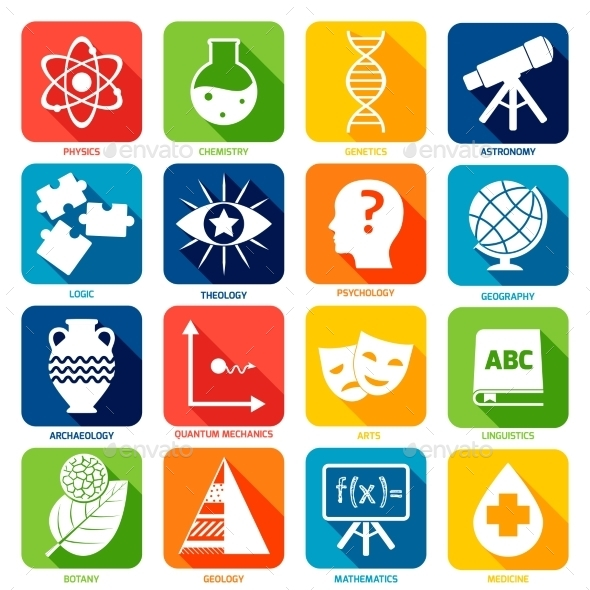 GraphicRiver Science Areas Icons 9425571