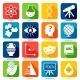 Science Areas Icons - GraphicRiver Item for Sale