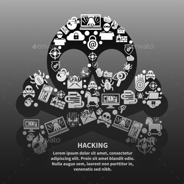GraphicRiver Hacker Skull Poster 9425577