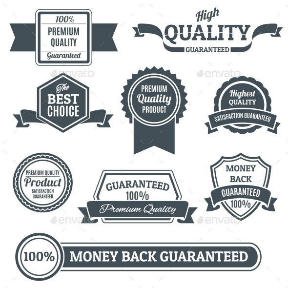 GraphicRiver Quality Labels Black Set 9425591