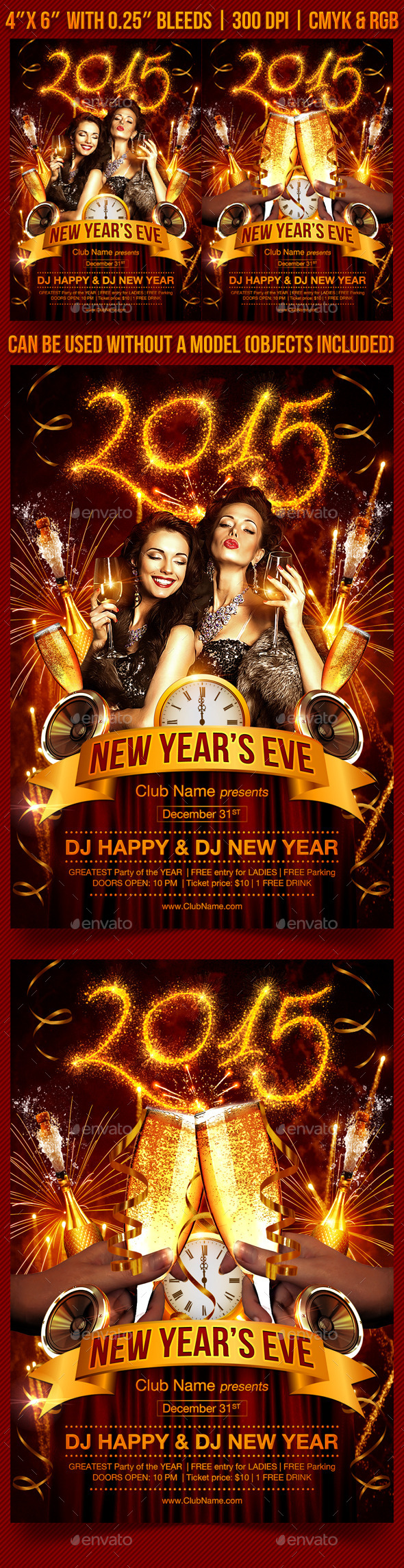GraphicRiver New Year s Eve Party Flyer 9369261