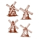 Hand-Drawn Windmills in Vintage Style - GraphicRiver Item for Sale