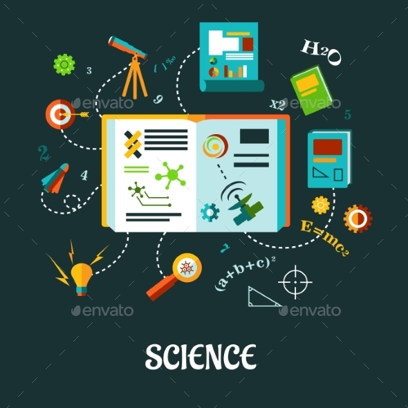 GraphicRiver Science Flat Concept 9426056