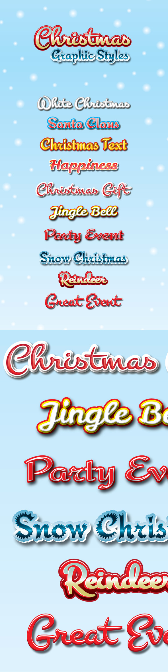 GraphicRiver Christmas Graphic Styles for Ai 9426081
