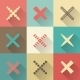 Set of Different Retro Vector Crosses and Tics - GraphicRiver Item for Sale