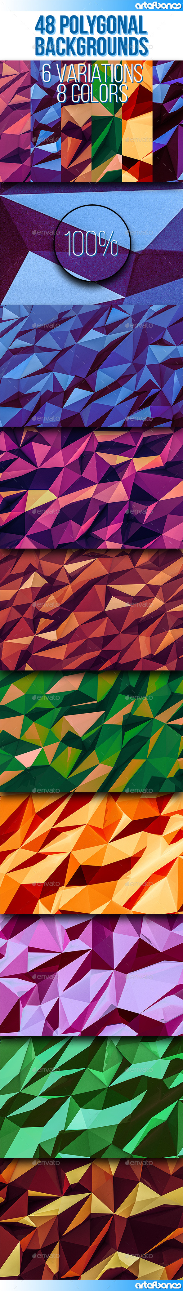 GraphicRiver 48 Polygonal Backgrounds Vol.2 9426637