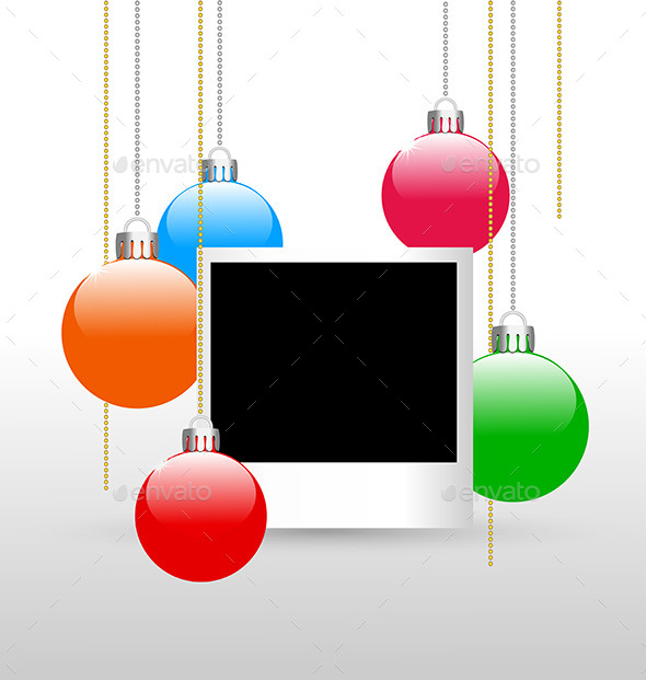 GraphicRiver Photoframe with Christmas Balls 9426708