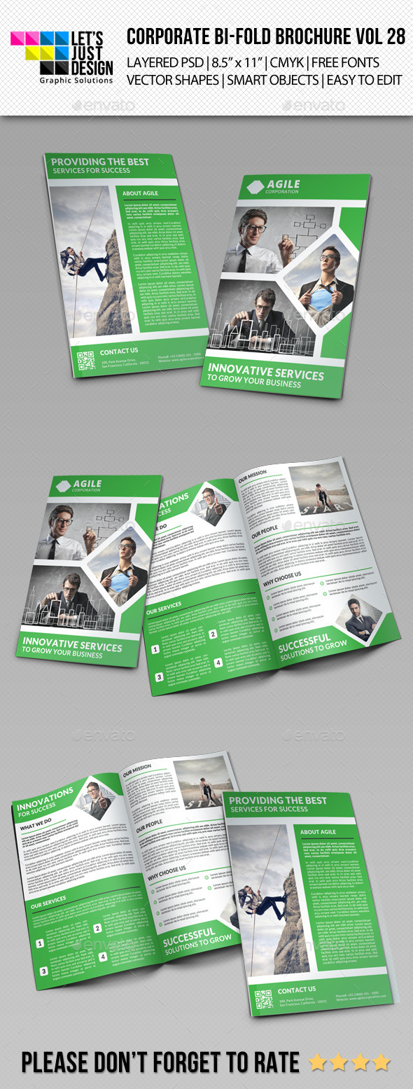 GraphicRiver Creative Corporate Bi-Fold Brochure Vol 28 9427075