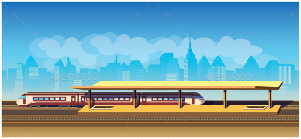GraphicRiver Train Station 9427512
