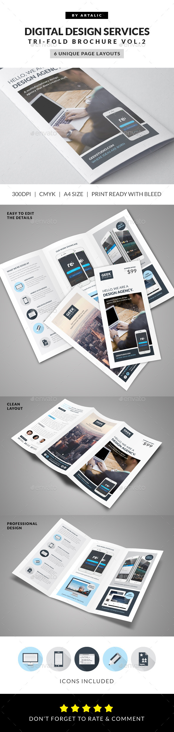 GraphicRiver Digital Design Firm Brochure 9427552