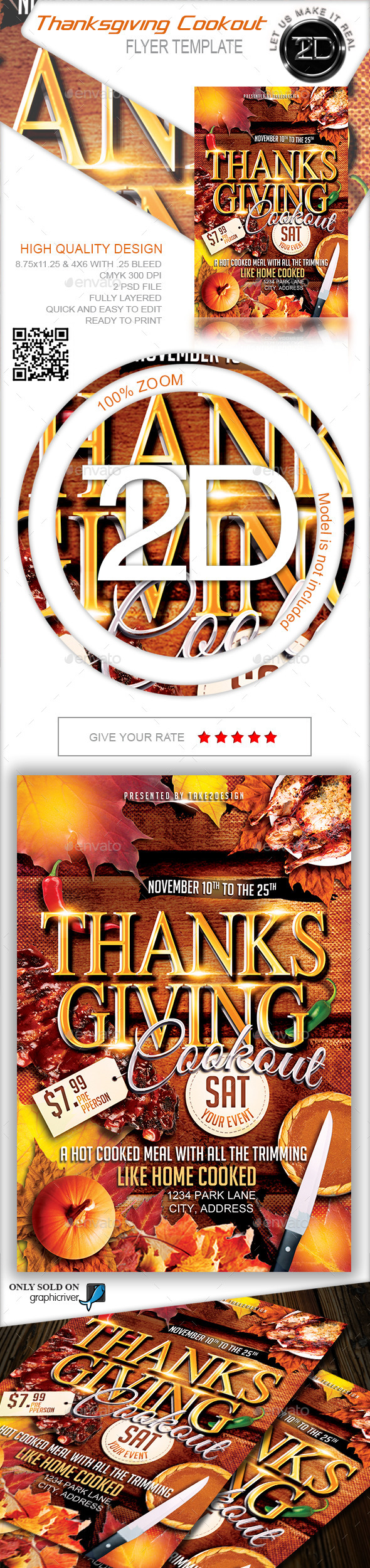 GraphicRiver Thanksgiving party Thanksgiving Cookout 9427594