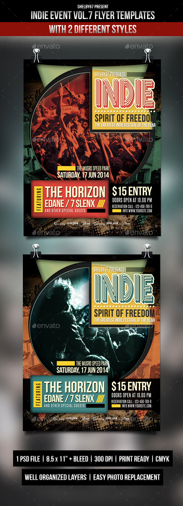 GraphicRiver Indie Event Flyer Templates Vol.7 9357924