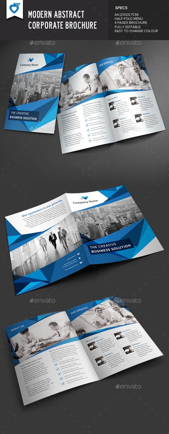 GraphicRiver Modern Abstract Corporate Brochure 9427602