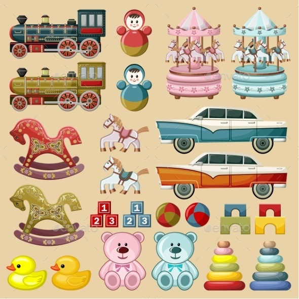 GraphicRiver Set of Toys 9427611