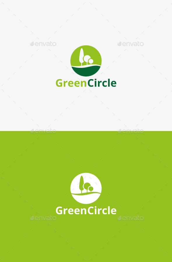 GraphicRiver Green Circle 9427616