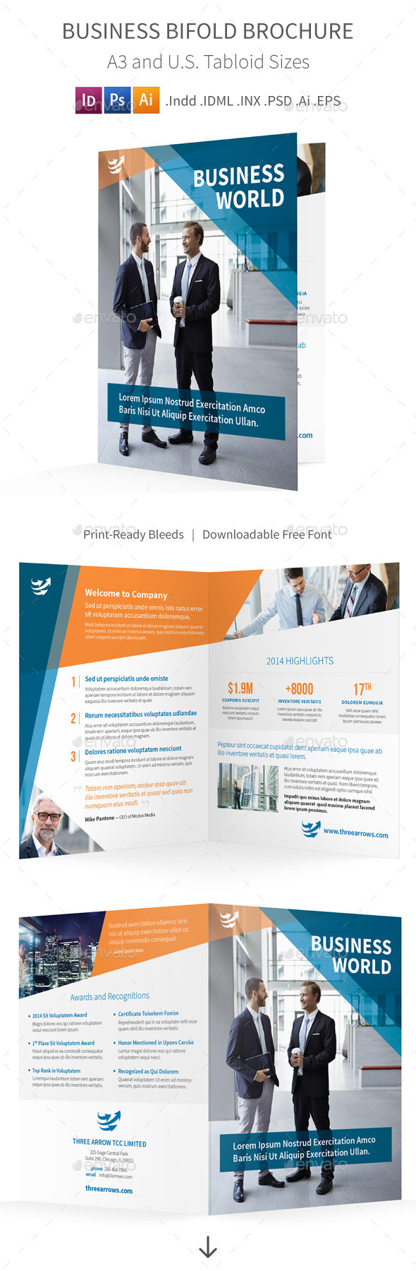 Business Bifold Halffold Brochure