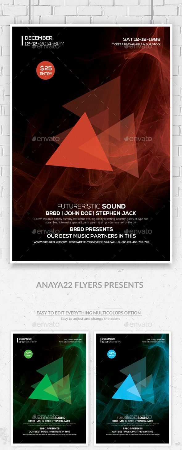 GraphicRiver Futuristic Flyer Psd Template 9365897