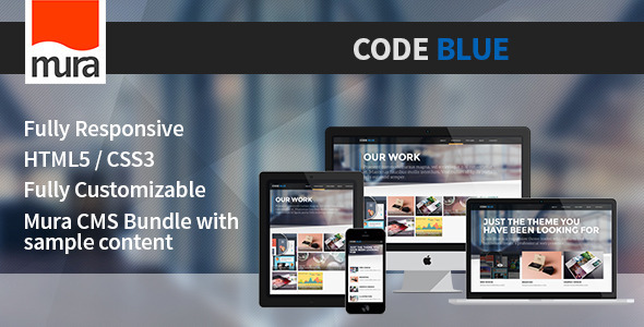 ThemeForest Code Blue Premium Mura CMS Theme 9349849