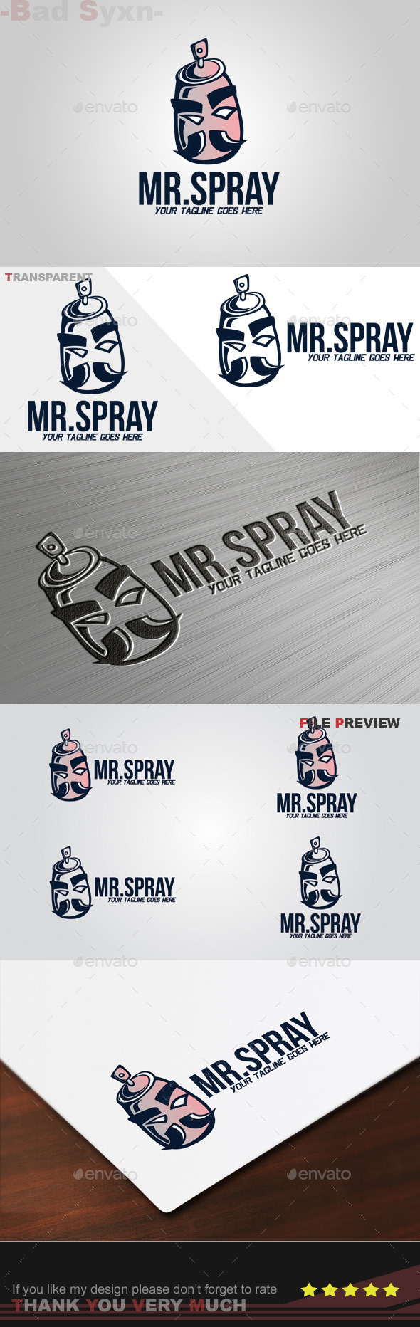 GraphicRiver Mr Spray Logo Template 9427934