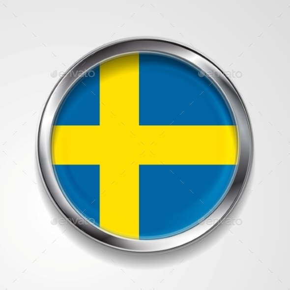 GraphicRiver Swedish Metal Button Flag 9427972