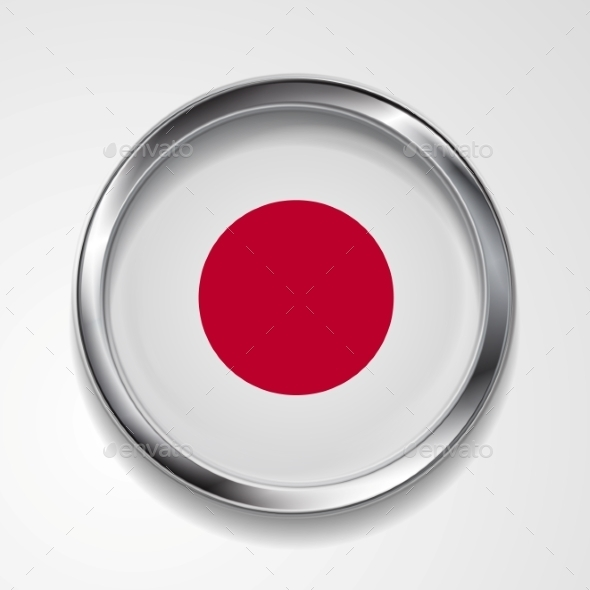 Japanese Metal Button Flag