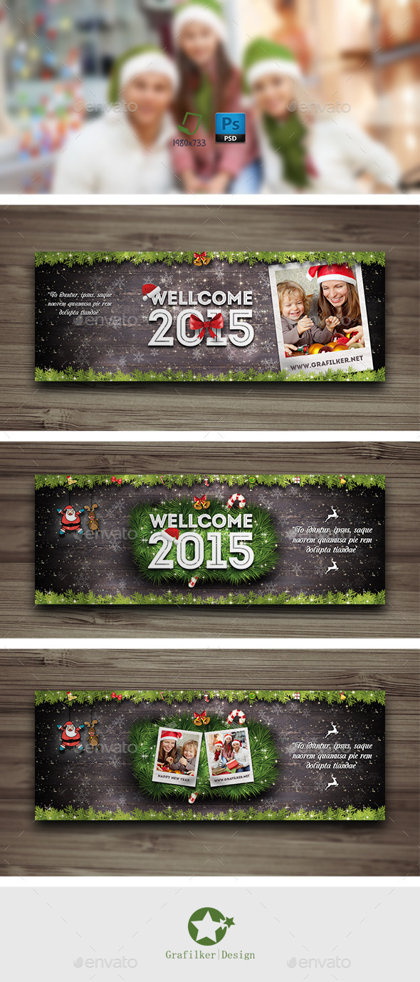 GraphicRiver Christmas Timeline Cover Templates 9400829