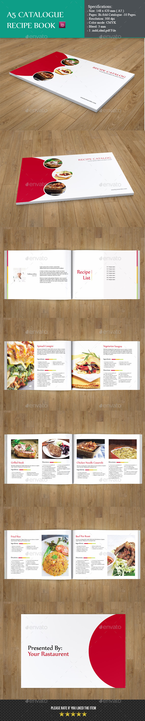 GraphicRiver A5 Catalog-Minimal Recipe Book 9429114