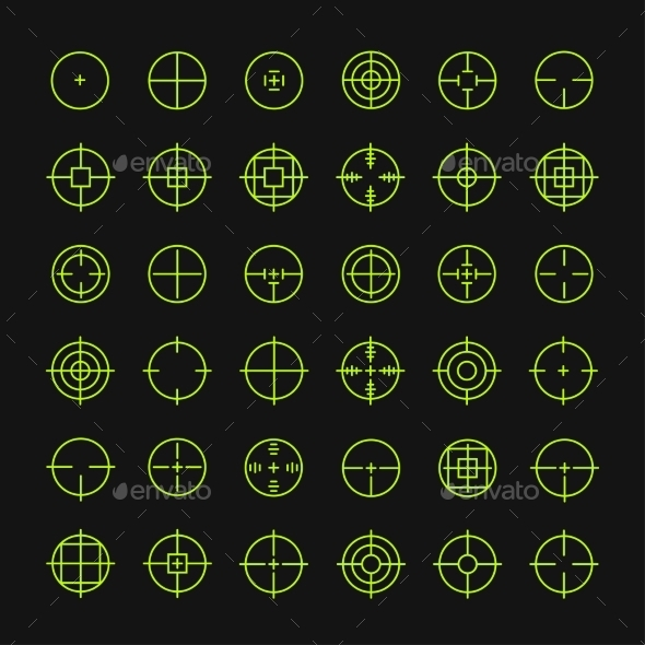 GraphicRiver Crosshair Symbols 9429327