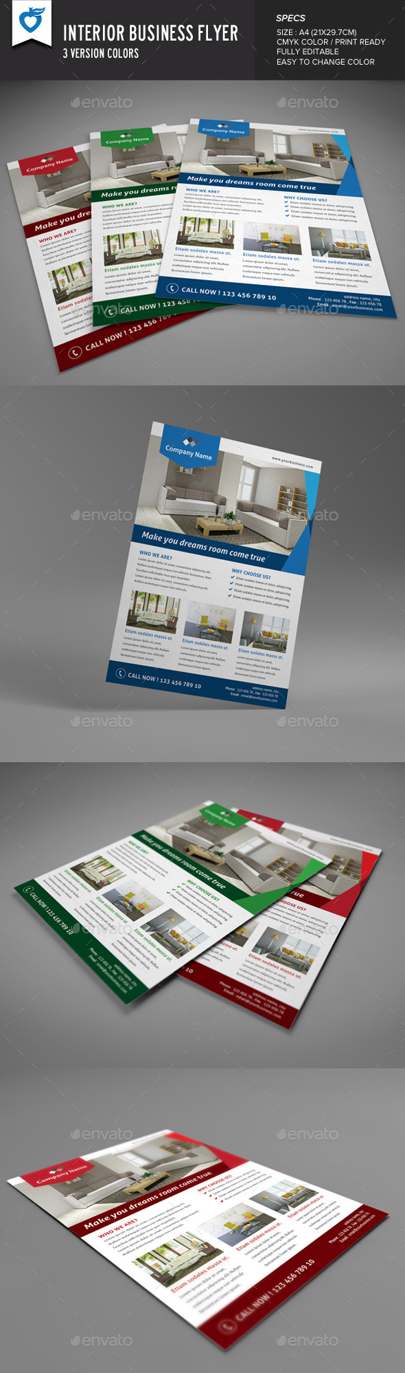 GraphicRiver Interior Business Flyer 9429422