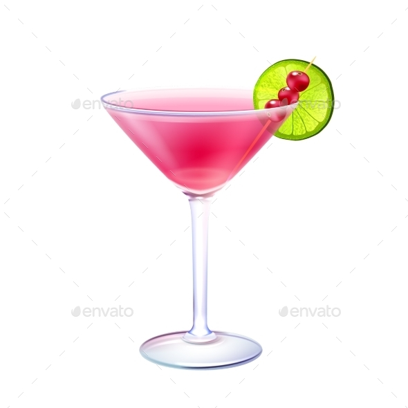 GraphicRiver Cosmopolitan Cocktail 9429470