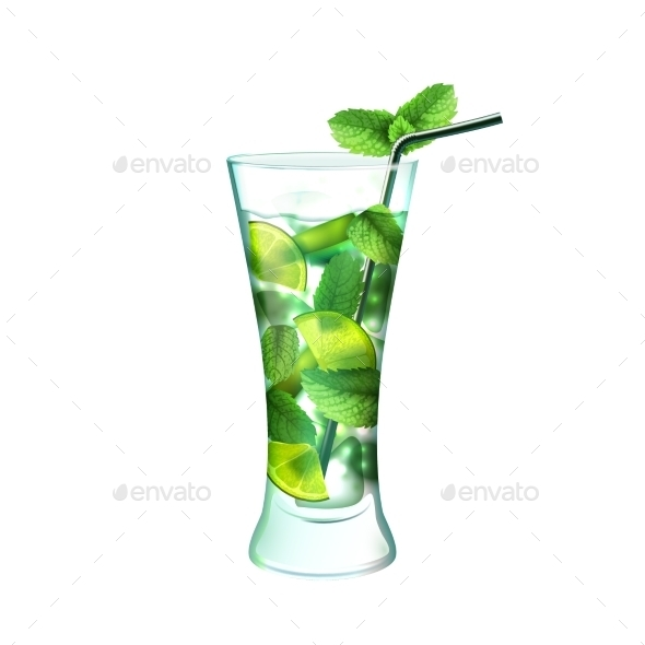 GraphicRiver Mojito Cocktail 9429471