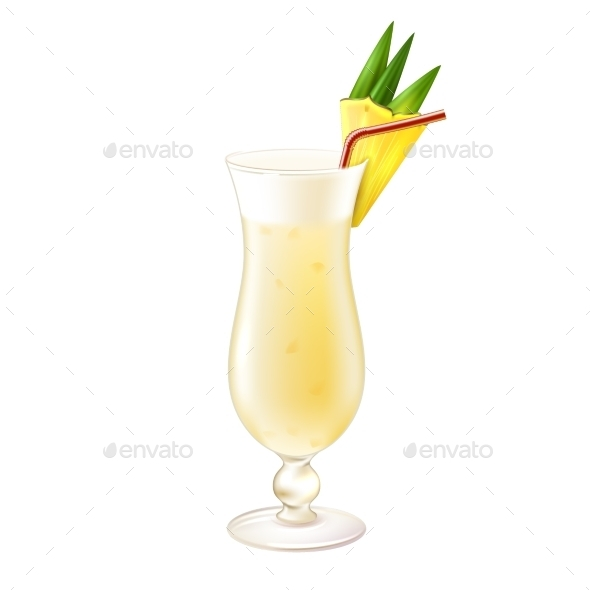 GraphicRiver Pina Colada Cocktail 9429473