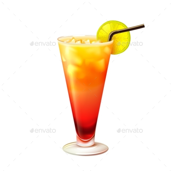 GraphicRiver Tequila Sunrise Cocktail 9429474