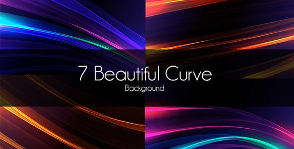 7 Beautiful Curve Background