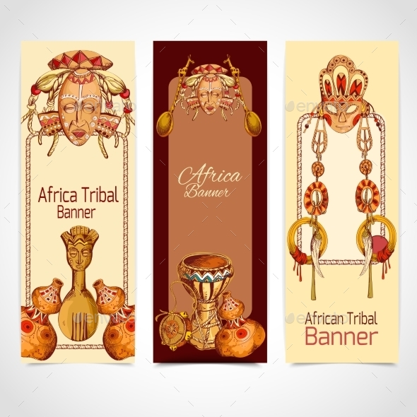 GraphicRiver Africa Sketch Banners 9430070