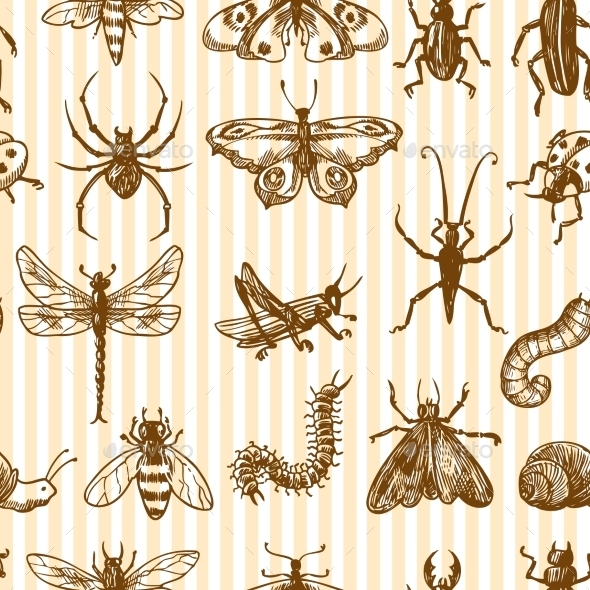 GraphicRiver Insect Pattern 9430237