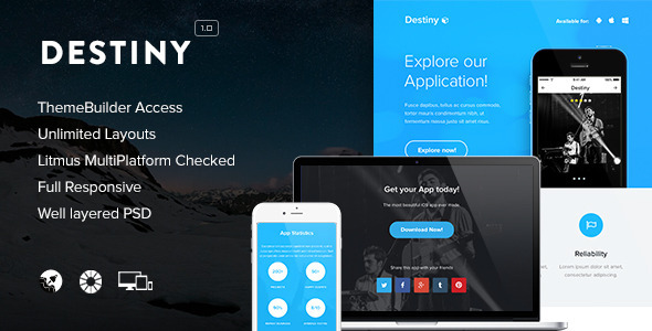 ThemeForest Destiny Responsive Email & Themebuilder Access 9380010