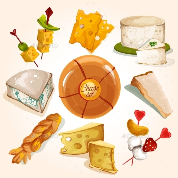GraphicRiver Cheese Sketch Collection 9430308