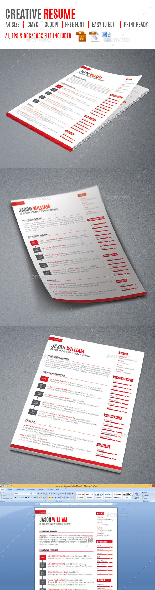 GraphicRiver Creative Resume 9430317