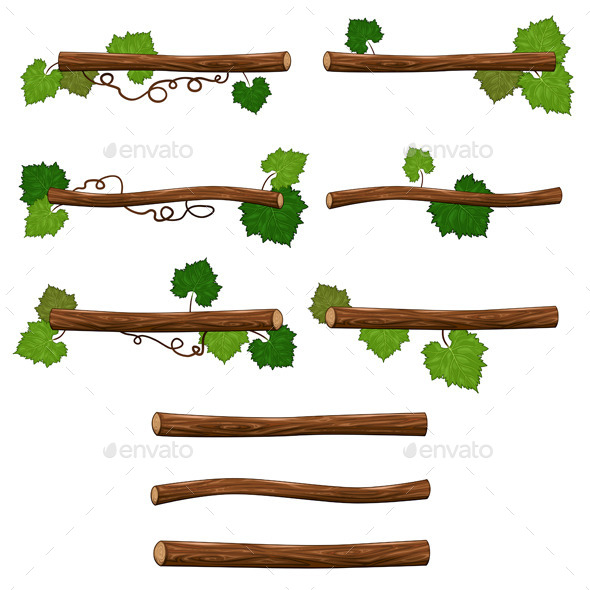 GraphicRiver Set of Branches 9430369